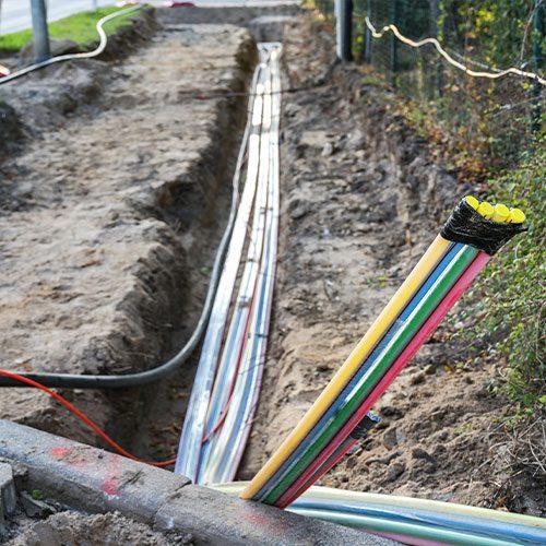 Vermessung für Leitung und Bau